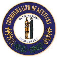 """Kentucky State Seal Flag bumper sticker decal 4"""" x 4"""""""