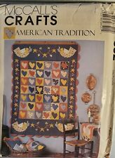 McCall's Crafts American Tradition pattern 852 Quilt, Napkins, Placemats uncut