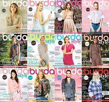 burda style Das große Nähmagazin mit Schnittmuster zur Auswahl-Hefte aus 2017  !
