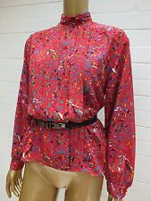 VINTAGE AYWON CLASSIC SKIVVY HIGH NECK SHIRT Blouse TUNIC Top Suit Casual