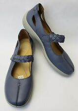 Hotter Shoes Flats Blue River Mary Janes Comfort Concept England Womens Size 9.5