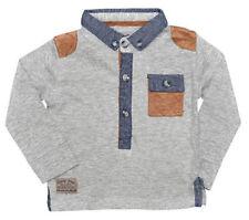 T-shirts et hauts gris à manches longues pour garçon de 2 à 16 ans en 100% coton