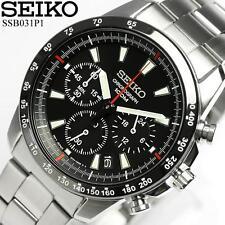 SEIKO Chronograph SSB031P1 Orologio Crono Uomo Acciaio Men's Watch