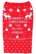 Pet Dog Merry Christmas  Jumper Size Small to Large