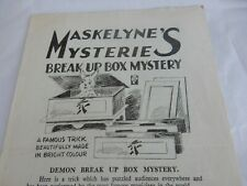 1950s Davenports Magic Tricks 4 page pamphlet . Watch Wizardry