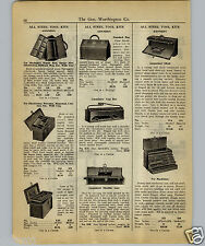 1927 PAPER AD Kennedy Tool Chest Box Boxes Carpenters' Shoulder Tote Machinist