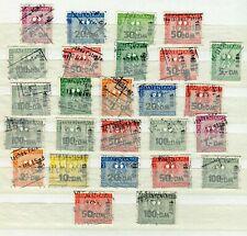 x134 - Germany Lot of (26) REVENUE STAMPS. Fiscal Fiskal. PATENT OFFICE
