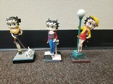 3 Betty Boop Danbury Mint Figurine Lot King Feature Collector's Statue