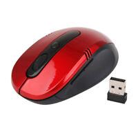 Souris Sans fil PC Portable Optique Mouse Mini Récepteur USB 2.4GHz -Rouge