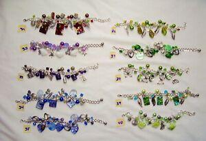 Stunning and Fun Handmade Charm Bracelets with Swarovski Crystals