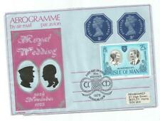 ISLE OF MAN 1973 ROYAL WEDDING FIRST DAY OF ISSUE AEROGRAMME