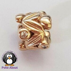 GENUINE PANDORA 14ct YELLOW Gold & Diamond ETERNAL FRUIT LEAVES 750435D RETIRED