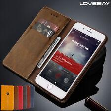Leder Wallet iPhone 5 6 7 Plus Case Handy Tasche Schutz Hülle Cover Bumper Etui