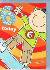6 Today kid on skateboard birthday card