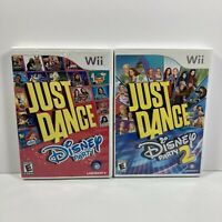 Just Dance Disney Party 1 & 2 (Nintendo Wii) 2 Games Tested Working