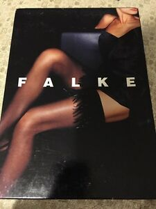 Falke Feather Thigh Highs Stay-ups Hold-ups Black Small 41622 $325