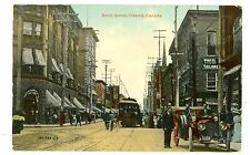 Ottawa Ontario ON -TROLLEY & EARLY AUTO ON BANK STREET- Postcard