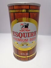 ESQUIRE STRAIGHT STEEL PULL TAB BEER CAN #62-1  JONES BREWING CO.  SMITHTON, PA.