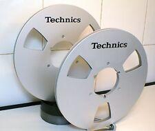 "2 X TECHNICS LOGO METAL NAB HUB REEL TO REEL 10.5"" X 1/4"""