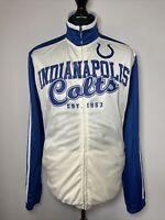 Official NFL Indianapolis Colts Blue Cream Track Trackie Jacket Zip Top M