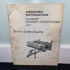Sperry New Holland 477 Haybine Mower Conditioner Assembly Information Vtg 1977