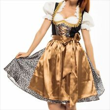 Germany,German,Trachten,Oktoberfest,Dirndl Dress,3-pc.Sz.4,Leopard,Gold