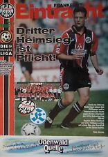 Programm 1996/97 SG Eintracht Frankfurt - Kickers Stuttgart