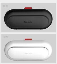 Car Sun Visor Glasses Case Holder Sunglasses Box Card Receipt Clip black white