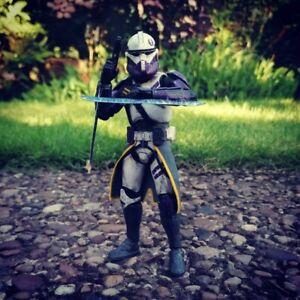 Star Wars The Black Series 6 Inch Clone Assassin Trooper Custom Action Figure