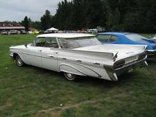 Old Photo.  White 1959 Pontiac Bonneville Automobile