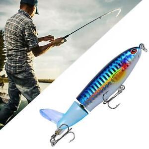 Whopper Plopper Topwater Float Fishing Lures Rotating Tail For Bass AL Chub C1U7