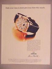 Omega Louis Brandt Watch PRINT AD - 1991 ~~ wristwatch