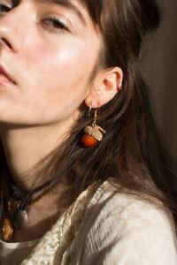 acorn earrings, nature, natural , hippy, morigal  earrings,