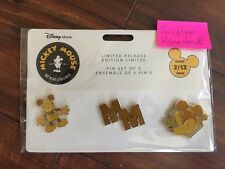 Disney Mickey Mouse Memories Golden Mickey Pin Set February