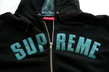 Supreme black front zip sweatshirt XL