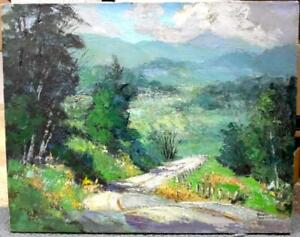 "Ronni Pastorini ""Winding Road"" Original Oil Painting Very Good Condition"