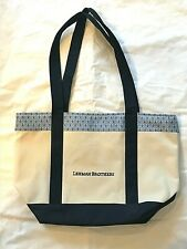 NWOT Vineyard Vines Canvas Tote Bag TENNIS SILK TRIM LEHMAN BROTHERS CLASSIC BAG