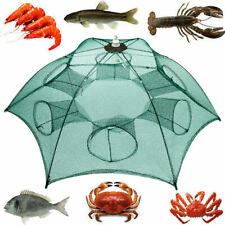 Fishing Bait Trap Crab Net Crawdad Shrimp Cast Dip Cage Fish Minnow Foldable Sea