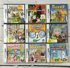 9 x Nintendo DS Game boxes with inner book *no game cards only boxes* bulk lot