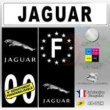 4X Stickers Plaques Jaguar Auto Fond Noir