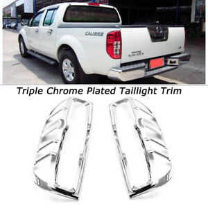 For Nissan FRONTIER 2005-2011 2012 2013 2014 2015 Chrome Rear Tail Light Covers