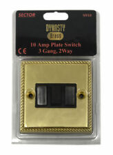 B&G 3-Gang Electrical Home Light Switches