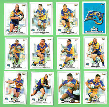 2001 PARRAMATTA  EELS   RUGBY LEAGUE CARDS