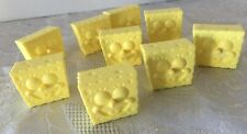 Vintage SpongeBob SquarePants Yellow Hard Plastic Rings LOT of 9