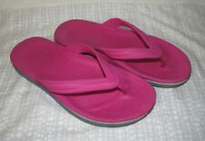 Crocs M7/W9 Hot Pink Thong Flip Flops with Sneaker Base EUC