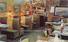 Old Photo. Norwalk, Connecticut.  Interior - Higgins Clam Bar Restaurant
