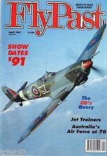 Flypast 1991 April RAAF,Hurricane,Lancaster,Viscount,Spitfire