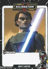 Matt Lanter Official Pix Star Wars Autograph Trading Card Celebration V Exc