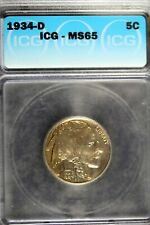1934 - D ICG MS65 Buffalo Nickel!!  #B18370
