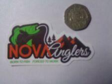 "Fishing Box or Car vinyl Sticker "" Nova Cingers born to fish forced to work """